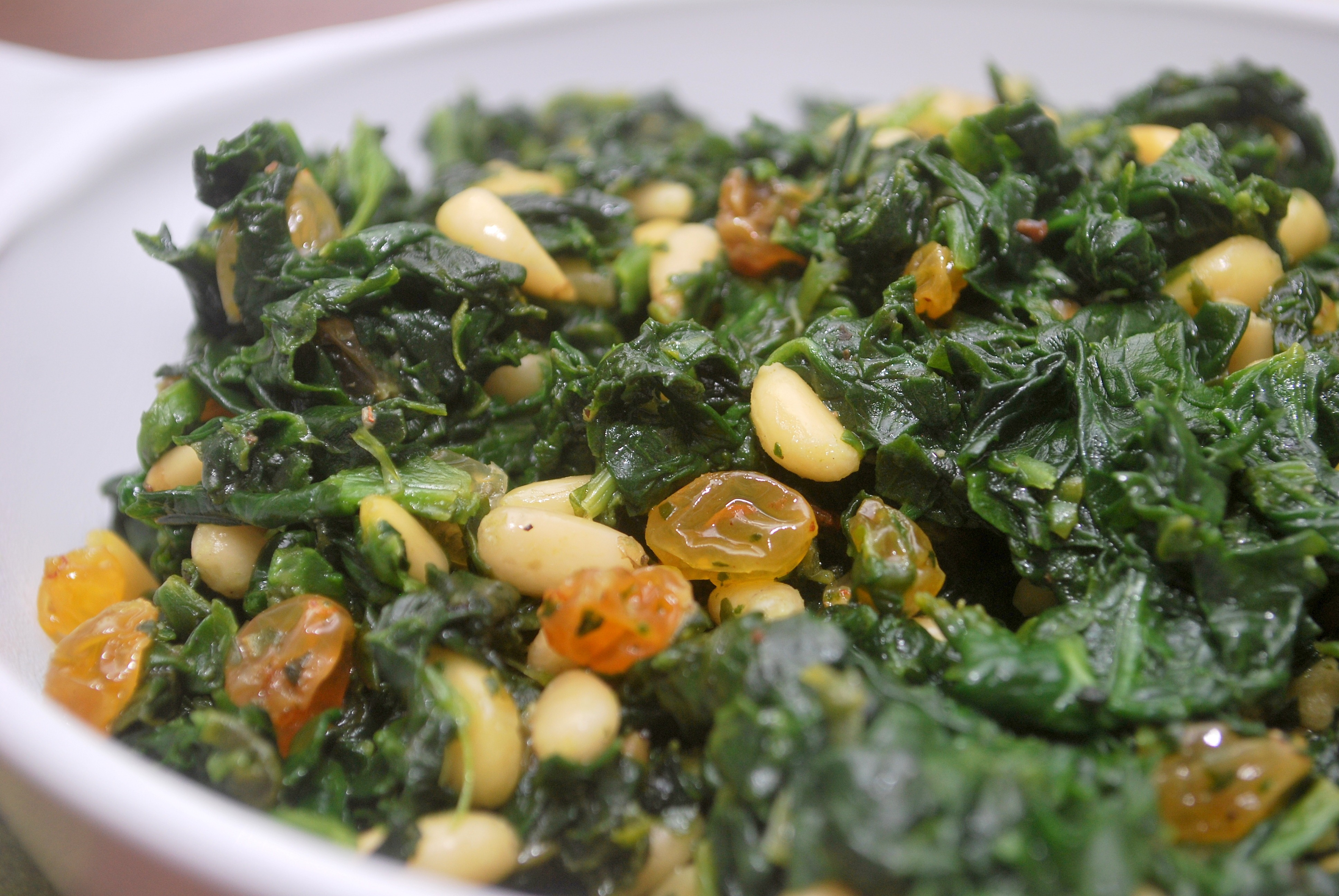 ... and pine nuts sautéed greens with pine nuts and raisins recipe yummly