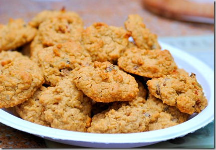 Oatmeal Peanut Butter Cookies with Real Fruit Chews