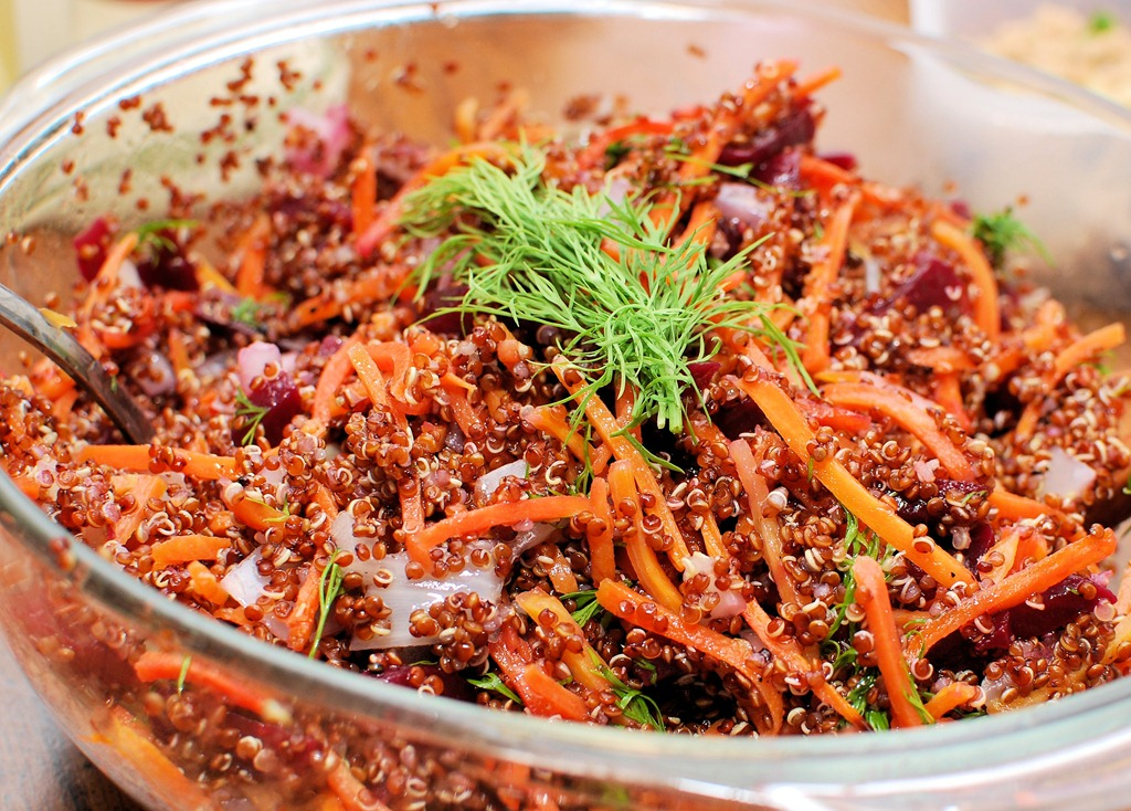 Getting Up and Running Plus Quinoa Beet and Glazed Carrot Stick Salad