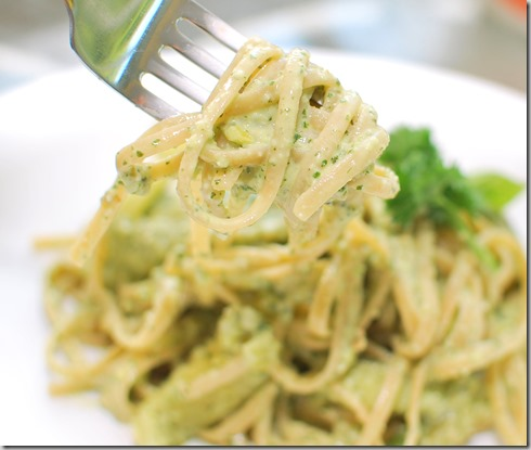 Pasta with Mint Pesto and Zucchini Ribbons1