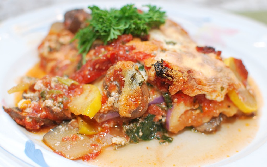 Vegetable Lasagna: Eggplant and Squash