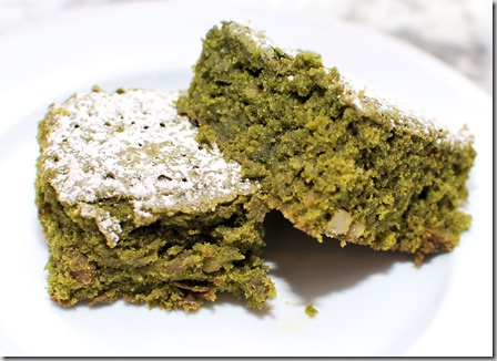 Matcha green brownies2
