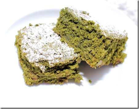 Matcha green brownies4