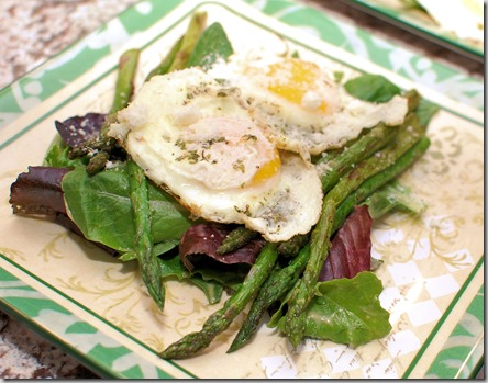 Grilled Asparagus Salad with Eggs1
