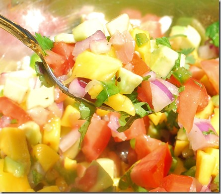 Honey Mango Avocado Salsa3