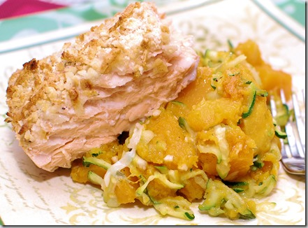 Zucchini with Butternut Squash and Salmon4