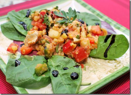 Yellow Split Pea Salad with Caponata1
