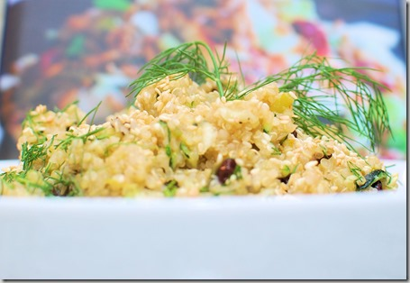 Lemon Quinoa with Zucchini,m, Currents and Dill1