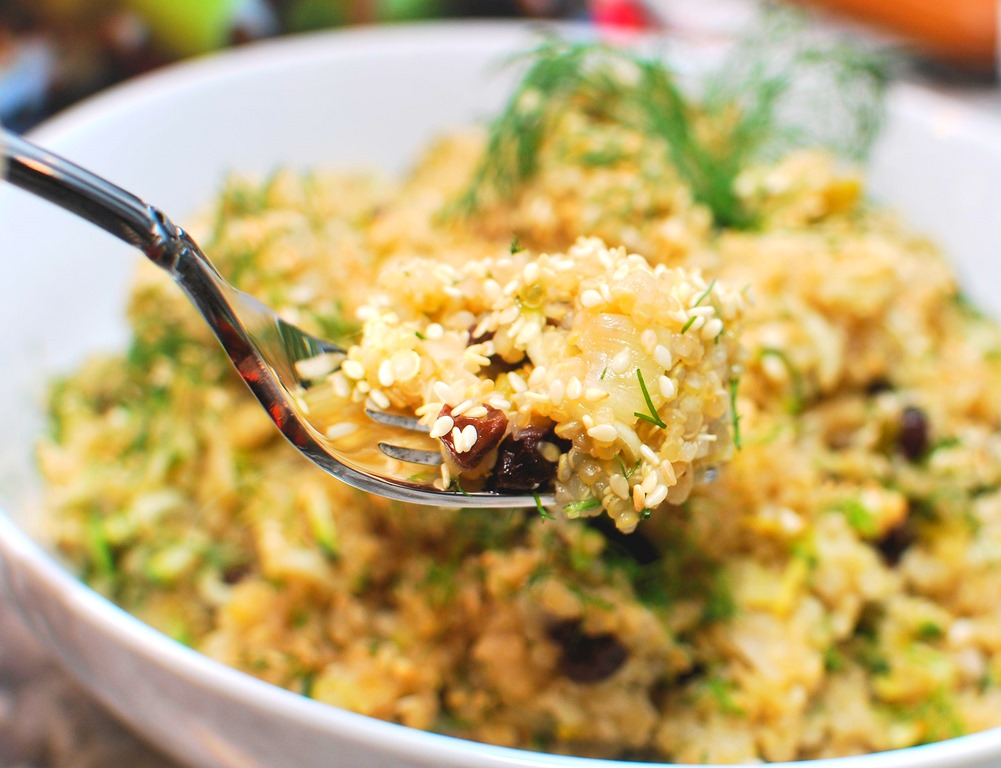 Lemon Quinoa with Zucchini,m, Currents and Dill3