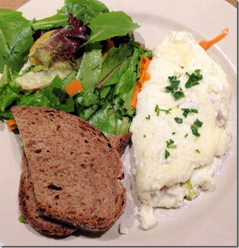 Egg whites and greenery morning before breakfast