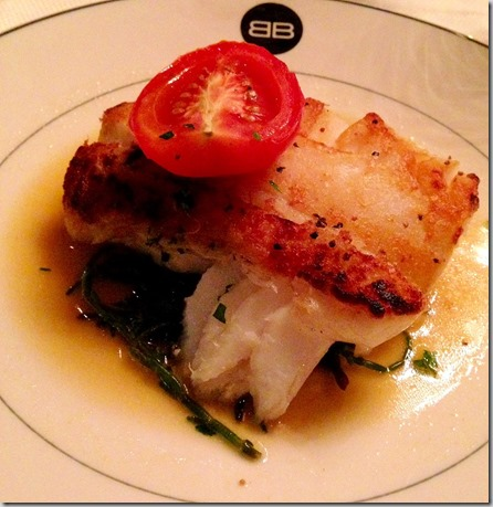 crispy topped halibut