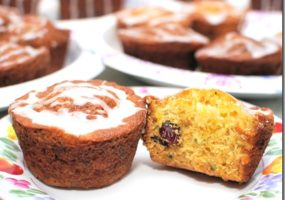Mandarin Orange Zucchini Bread with Craisins
