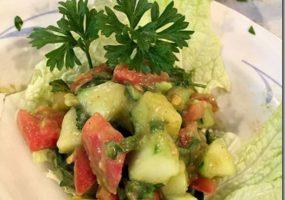 Avocado Dressed Salad and Marathon Thoughts