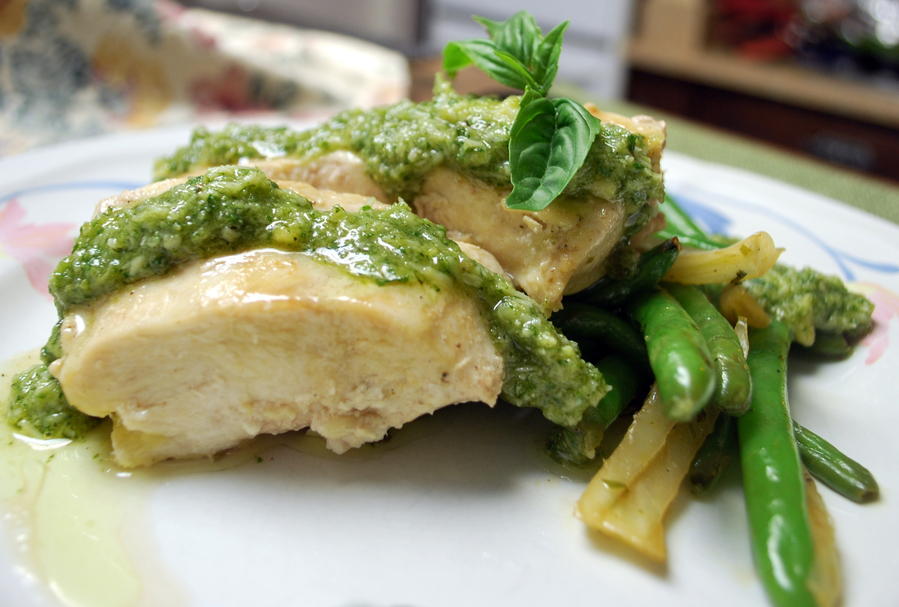 Roasted Chicken Breast With Citrus Glaze And Parsley Pesto Recipe ...