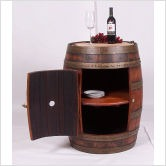 Full Barrel Cabinet with Casters