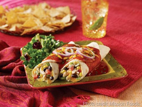 Fiesta Chicken and Black Bean Enchiladas