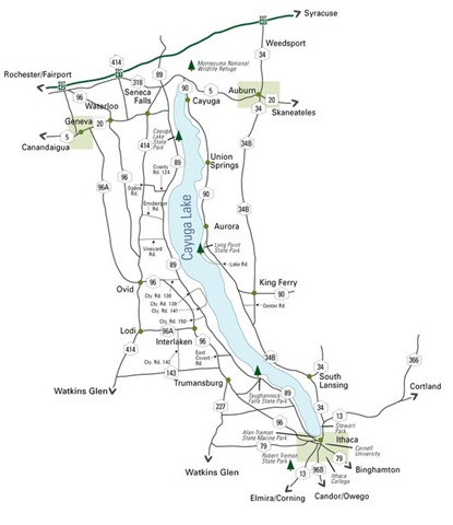 cayuga map