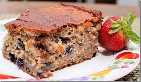 Banana Blueberry Cake1