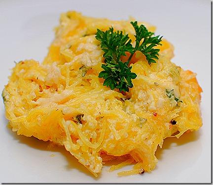 FOFF Spaghetti Squash Au Gratin and Cakes1