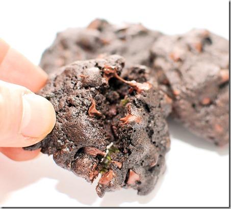 Chocolate mint cookies and garbanzo salad8