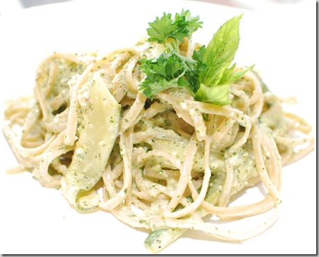Pasta with Mint Pesto and Zucchini Ribbons3