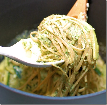 Pasta with Mint Pesto and Zucchini Ribbons5