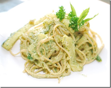 Pasta with Mint Pesto and Zucchini Ribbons6