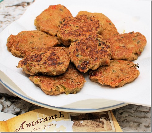 Amaranth Fritters2