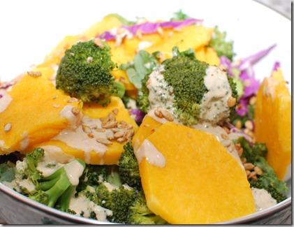 Broccoli Squash Salad with Tahini Sauce2