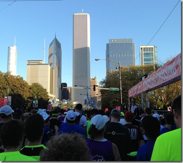 view from starting line
