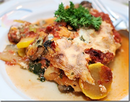 Vegetable Lasagna and Tuna Loaf5