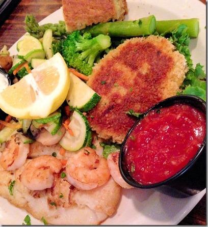 toast seafood plate
