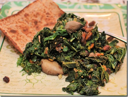 Warm kale Salad with Hummus and Pistachios2