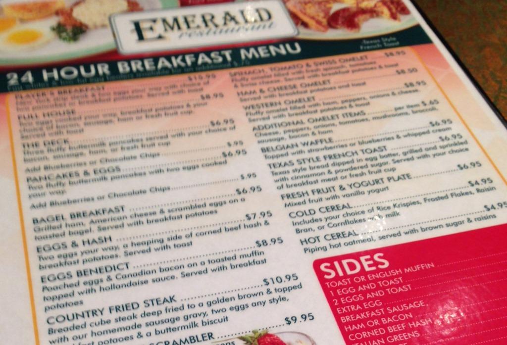 Turning stone casino emerald menu
