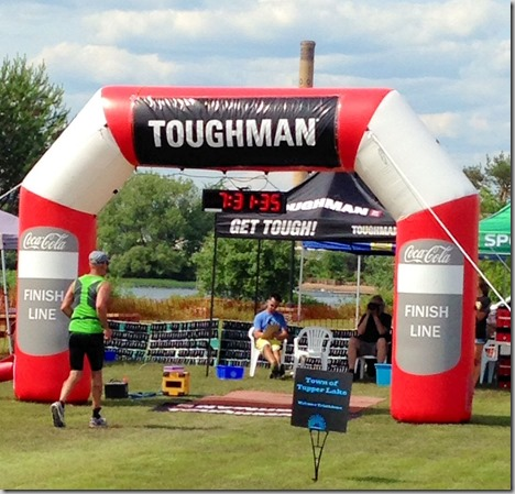 Tupper finish line