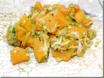 Zucchini with Butternut Squash and Salmon7