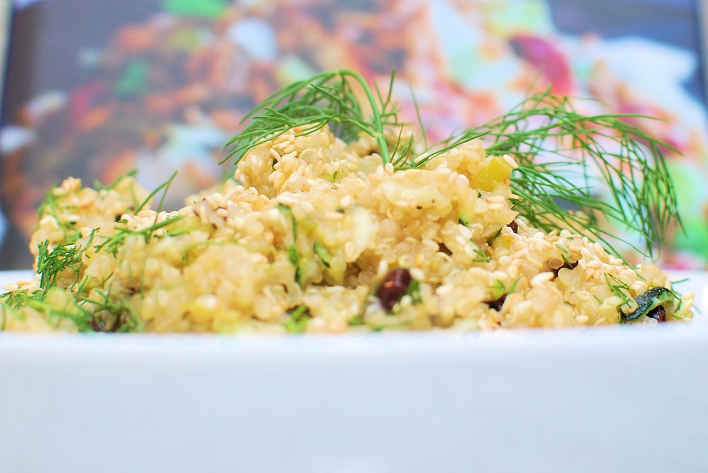 Lemon Quinoa with Zucchini, Currants and Dill