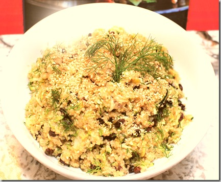 Lemon Quinoa with Zucchini,m, Currents and Dill2