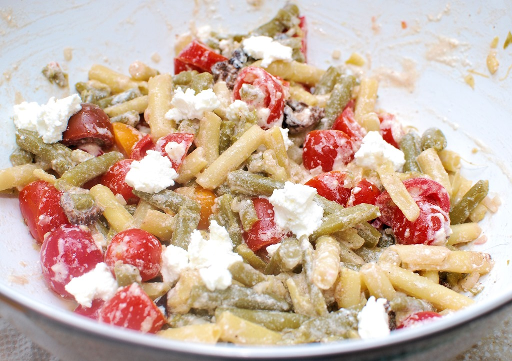 Green and Yellow Bean Salad with Ricotta