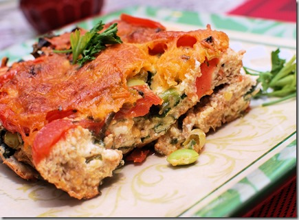 Ezekiel Strata with Tomato and Spinach2