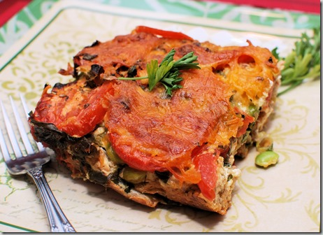 Ezekiel Strata with Tomato and Spinach6