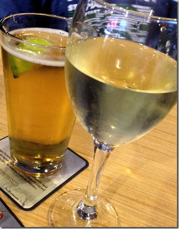 Wine and beer at Wild Wings