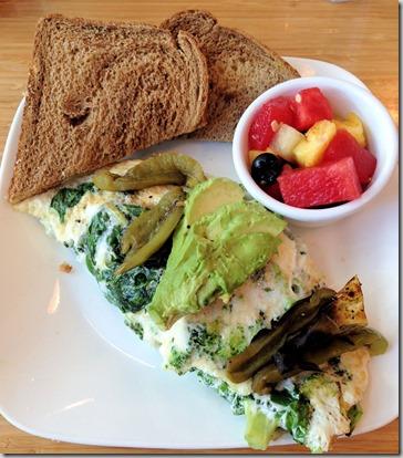 egg white green omelet