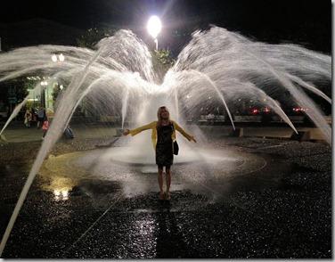 night in fountain