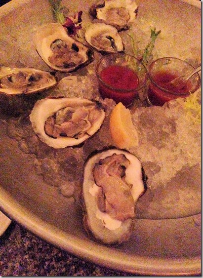Blue Point oysters at Hudson street