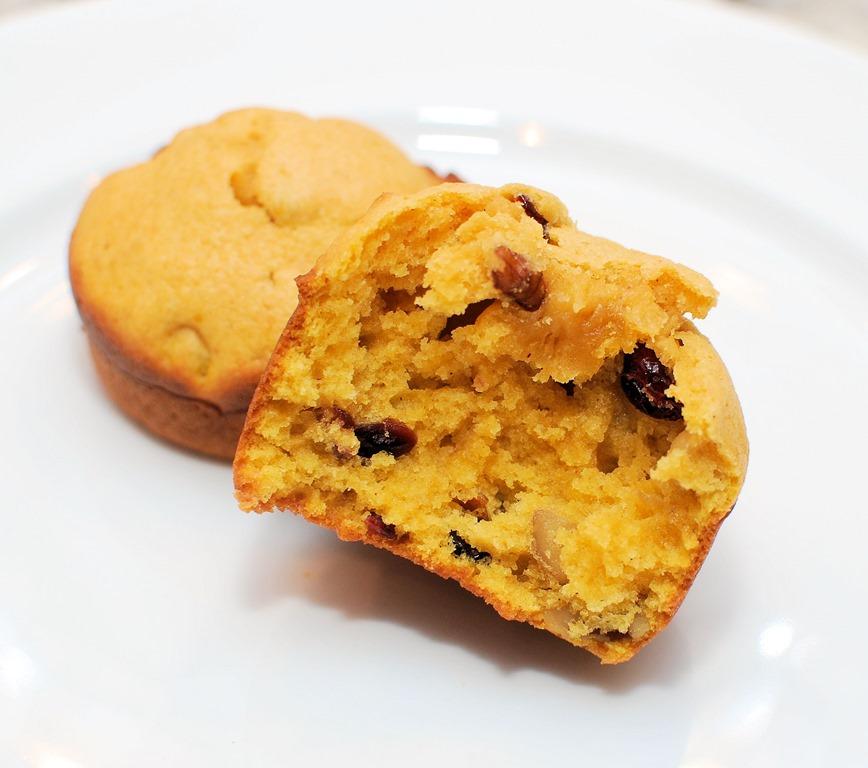 Pumpkin Craisin Nut Muffins