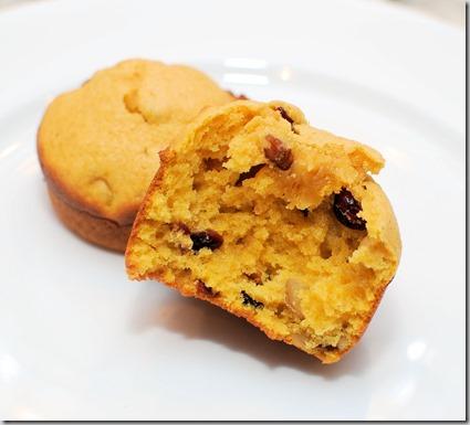 Pumpkin Craisin Nut Muffins1