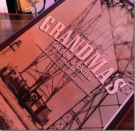grandmas menu cover