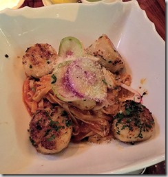 Fiola scallops and pasta